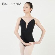 バレエ練習レオタード女性ダンス衣装スリングダンス黒レオタード adulto 女の子体操レオタードバレリーナ 5040