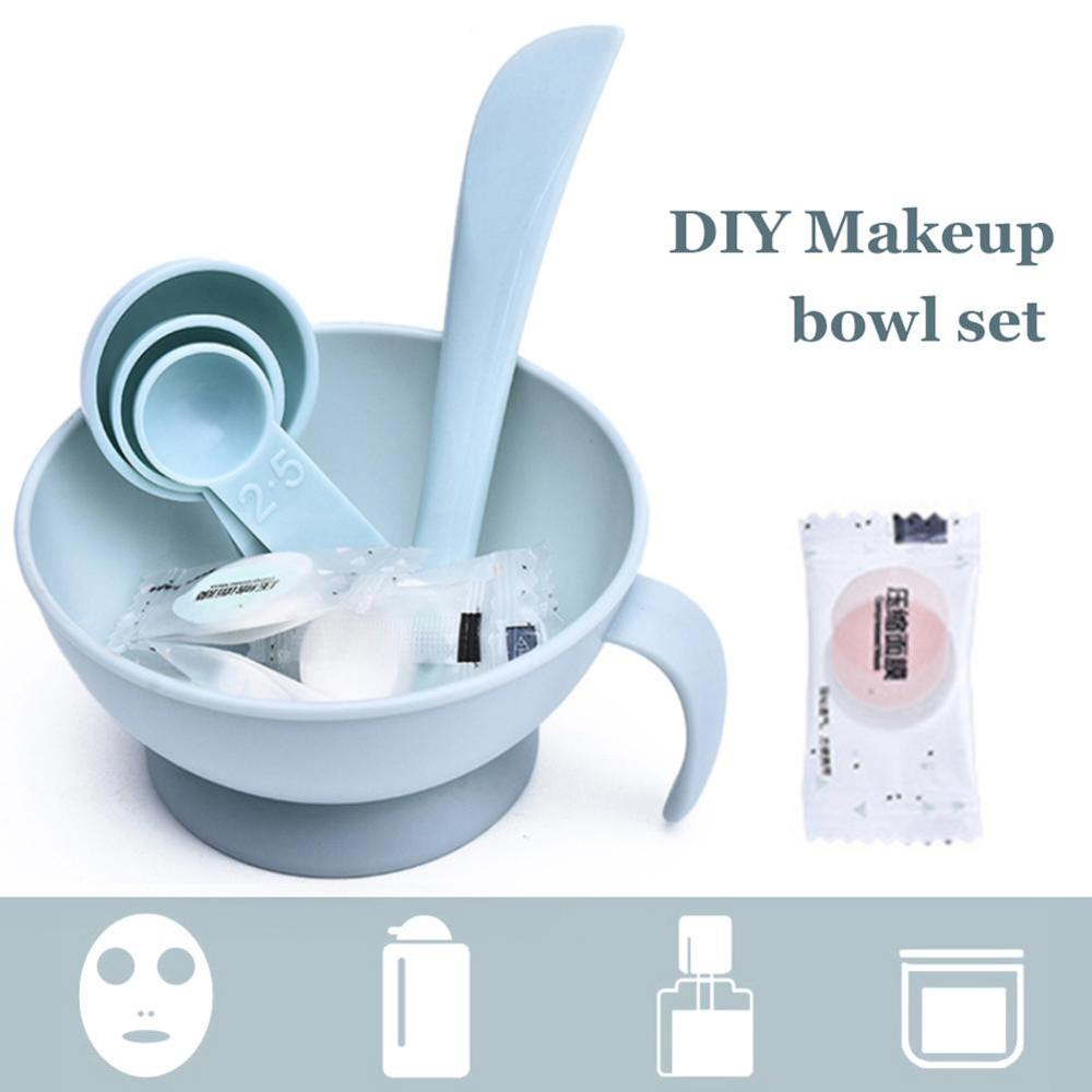 YBLNTEK 4PCS Face Mask Mixing Bowl Set Professional Facial Care Mask Tool Bowl Stick Brush Beauty Makeup Full Cosmetology Device