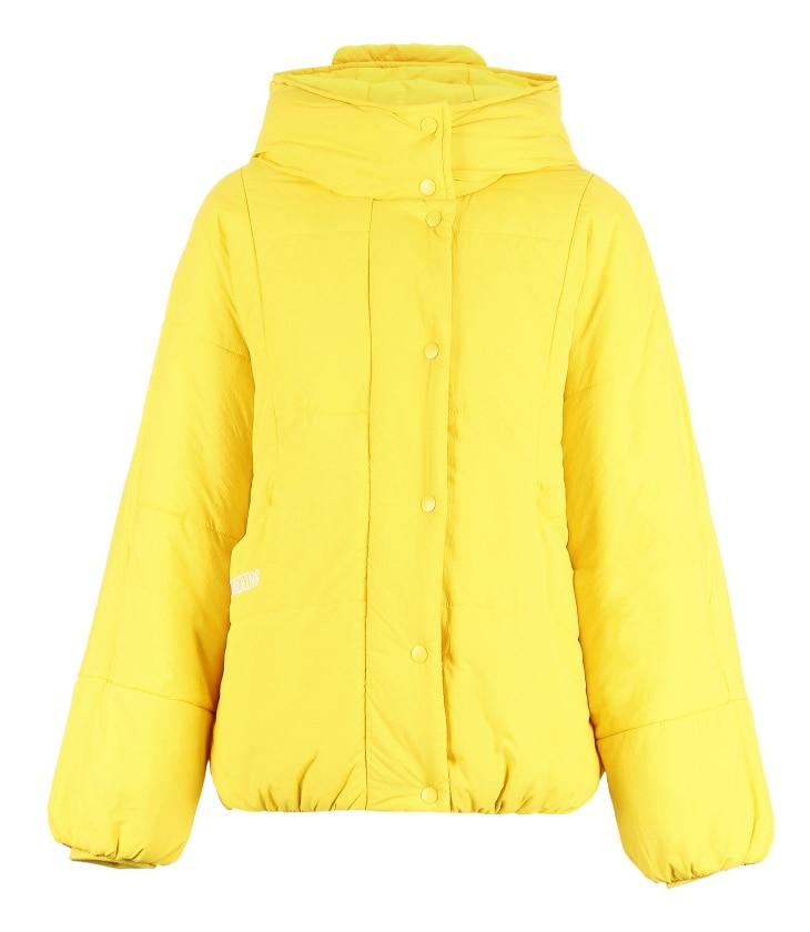 Letter Embroidery Light Short Hooded Cotton Coat Jacket