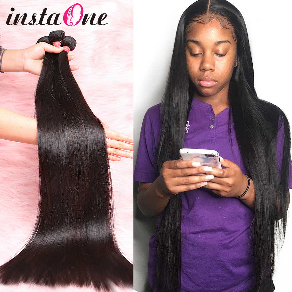 28 30 32 34 40 Inch Straight Brazilian Hair Weaves Bundles 3 4 Bundles Human Hair Bundles Single Bundles Remy Hair Extensions