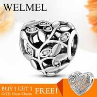 Heißer Verkauf Authentische 925 Sterling Silber Baum des lebens Herz perlen für schmuck machen Fit charme pandora armband charme Mode