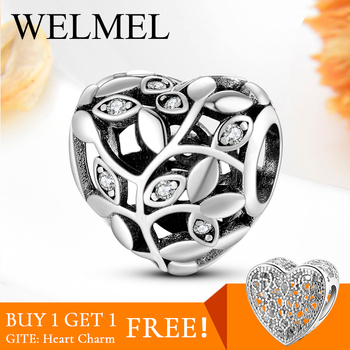 Hot Sale Authentic 925 Sterling Silver Tree of life Heart beads for jewelry making Fit charm bracelet charms Fashion