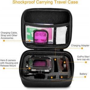 Image 2 - Accessoire Kit Voor Gopro Hero 8 Zwart Waterdichte Behuizing Case Gehard Glas Screen Protector Filter Kit Voor Go Pro Accessoires