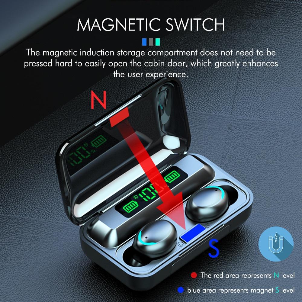 TWS беспроводной наушник Bluetooth 5,0 наушники спортивные наушники гарнитура с микрофоном для смартфона Xiaomi Samsung Huawei LG auriculare