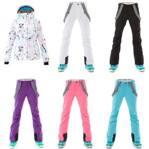 Image 5 - SMN Ski Suit Adult Women Winter Waterproof Breathable Warm Snowboard Jacket Bibs Pants Wind Resistant Outdoor Snowboard Suit