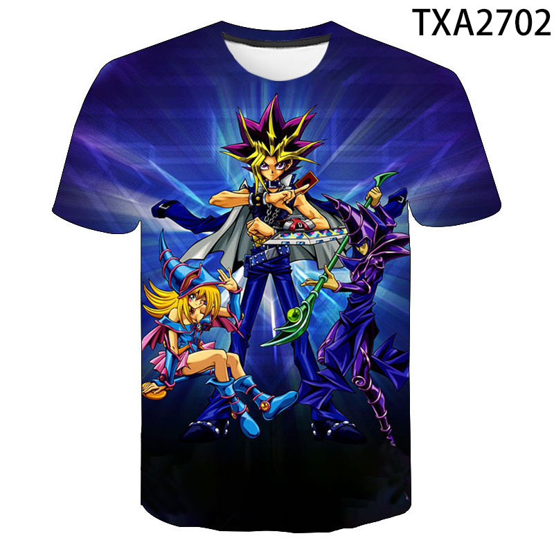 Kid//Youth Yu-Gi-Oh T-Shirts 3D Short Sleeve Tees for Girls Boys