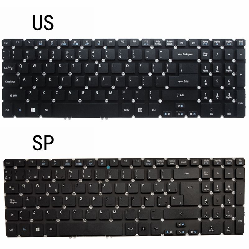 NEW US/SP LAPTOP KEYBOARD FOR ACER Aspire M3-581 M5-581 581T 581G V5-531 531G 551 551G 571 571G 571P 531P