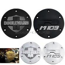 Motorrad Teile Chrome 3D Gravierte Derby Abdeckung Motor Stator Schutz Für SUZUKI BOULEVARD M109R INTRUDER VZR1800 M1800R 2006 2019