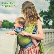 Lyricom-portabebés de algodón Para bebé, mochila ergonómica de 0 a 18 meses