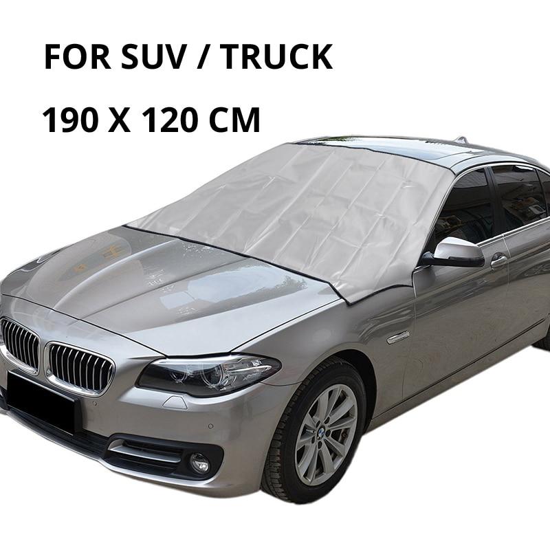 Partol универсальный автомобильный чехол на лобовое стекло, автомобильный Снежный лед, солнцезащитный козырек, Зимний Козырек на лобовое стекло, крышка на лобовое стекло - Цвет: 190 x 120  cm