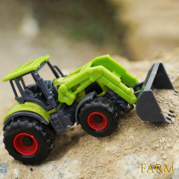 Alloy Agricultural Harvester Car Model 1:42 Alloy Kids Vehicles Mini Toys Engineering Cars Farmer Tractors Car Model Tractor Toy knl hobby j deere model a tractor agricultural vehicle safety model gift act ertl 1 16