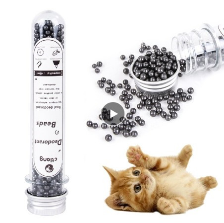 Litter Deodorizing Powder Cat Neutralizer Pet Odor Activated Carbon Removing Freshing Cleaning Supplies To Bead Absorbs Stink