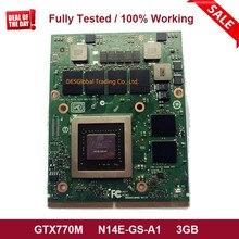 Original GTX 770M GTX770M VGA Graphics Grafikkarte N14E-GS-A1 3GB DDR5 für Laptop Dell Alienware M17X M18X MXM vollständig Getestet