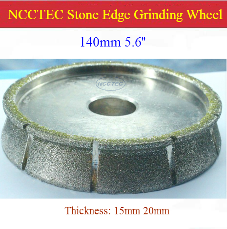 [Front Water-proof] 5.6'' 140mm Diamond Electroplate Brazed Stone Table Edge Grindind Wheel | Marble Quartz Resin Polishing