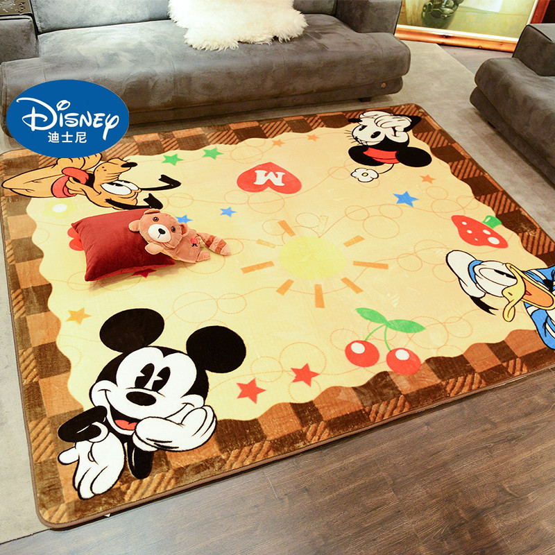Disney Mickey Mouse Carpet Mat Cartoon Cute Mickey Children Carpet Baby Crawling Carpet Mickey Rug Living Room Carpet Baby Mat