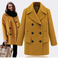 Hot Sell Plus Size Women Woolen Coat Large Medium Length Windbreaker Outerwear Elegant Streetwear Basic Female Overcoat