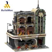 BuildMOC Street View Series Downtown Diner 10260 40173 In Stock Building Blocks Creator Bricks Model 99004 19001