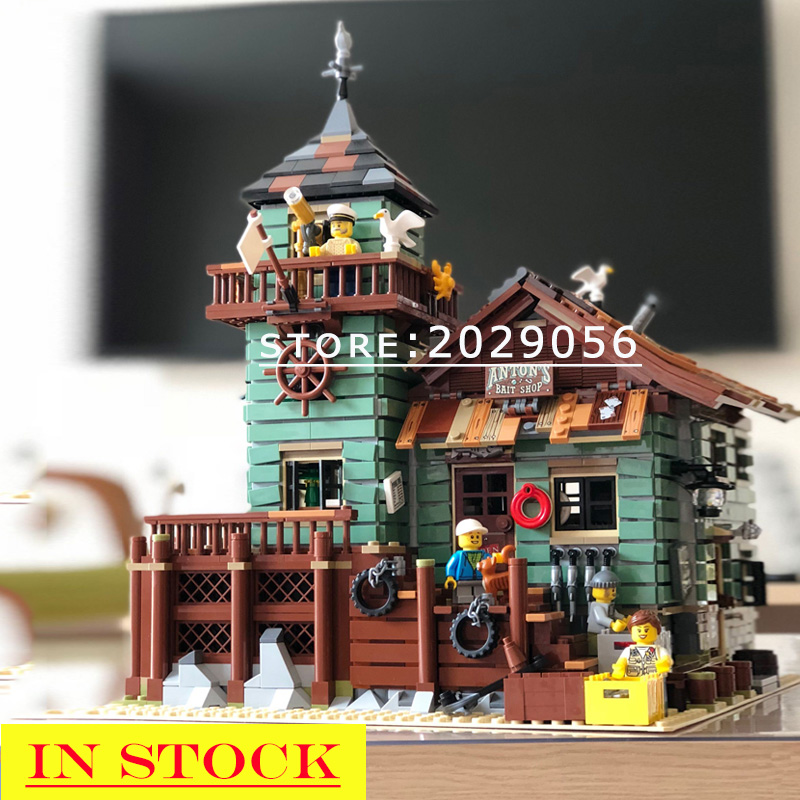 16050 In Stock The Old Fishing Store Creator Street View Series MOC Model 2049pcs Building Blocks Compatible 21310 ChildrenToys