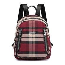 Trend plaid girls nylon backpack Female Sac A Do Women Mochila Escolar Feminina Multifunction School Girl backpack school to bag недорого