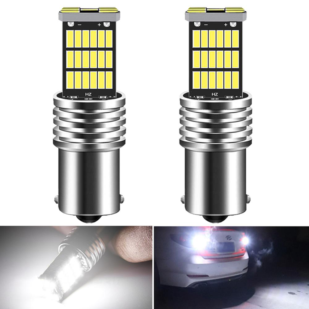 2pcs BA15S <font><b>1156</b></font> <font><b>P21W</b></font> LED <font><b>Canbus</b></font> W16W T15 LED Car Reverse Lights for VW Golf 4 5 6 7 GTI Polo Passat B5 B6 B7 CC Sharan Jetta image
