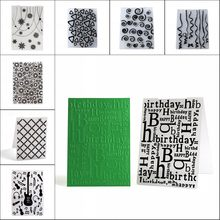 Clear Stamps Plastic Embossing Folders Paper Cards Template Scrapbooking Craft Card Making DIY Photo Album Wedding Decoration(China)