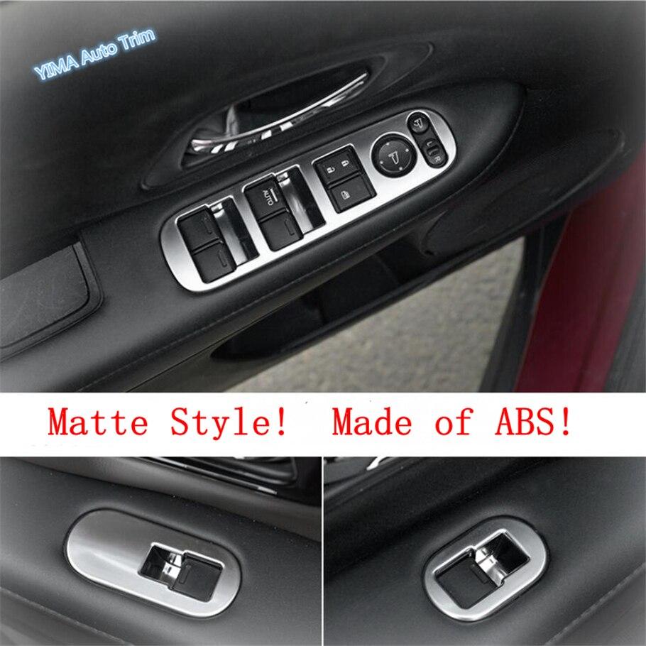 Lapetus Car Styling Inner Door Armrest Window Lift Button Panel Cover Trim Fit For Honda Vezel HR-V 2014 - 2019 ABS Carbon Fiber