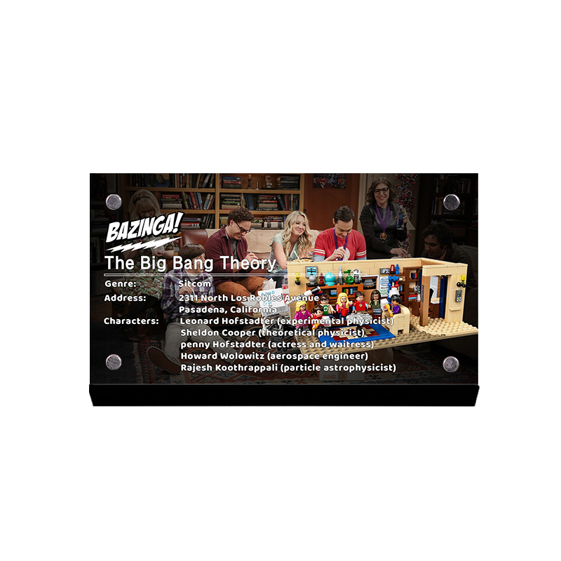 THE display stand for LEGO Ideas The Big Bang Theory 21302 custom acrylic Licence brand image