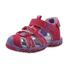 Apakowa, nuevas sandalias de playa deportivas para niñas, zapatos de verano recortados para niños, sandalias para niños pequeños, sandalias con punta cerrada para niñas, zapatos para niños, EU 21 32