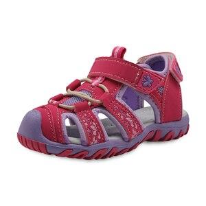 Image 1 - Apakowa חדש בנות ספורט חוף סנדלי מגזרת קיץ ילדי נעלי סגור הבוהן בנות סנדלי ילדי נעלי האיחוד האירופי 21 32