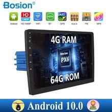 Rádio multimídia automotivo, rádio multimídia automotivo com 4 gb de ram, android 10.0, navegação gps universal, bt, fm, am rds câmera wifi swc mapa