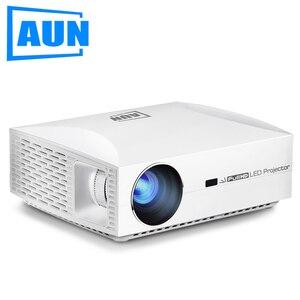 Image 1 - AUN светодиодный проектор F30/UP, разрешение 1920x1080P. Обновление 6500 люмен, Full HD проектор для домашнего кинотеатра, HDMI 3D проектор, P