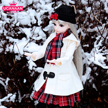 UCanaan 1/3 BJD Doll 60cm 18 Ball Jointed SD Dolls With Full Outfits Fashion Girls Dressup Toys Best Gifts For Children