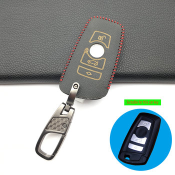 3 Button 100% Leather Car Remote Key Fob Shell Cover Case For BMW M1 M2 M3 F05 F10 F20 F30 335 328 535 650 740 Skin Protector image