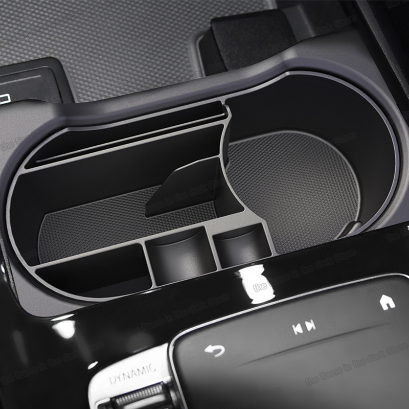 Lsrtw2017 Abs Car Cup Storage Box for mercedes benz a class <font><b>a200</b></font> <font><b>2019</b></font> 2020 2021 w177 A35 A45 A45 S AMG A160 A180 A220 A250 image