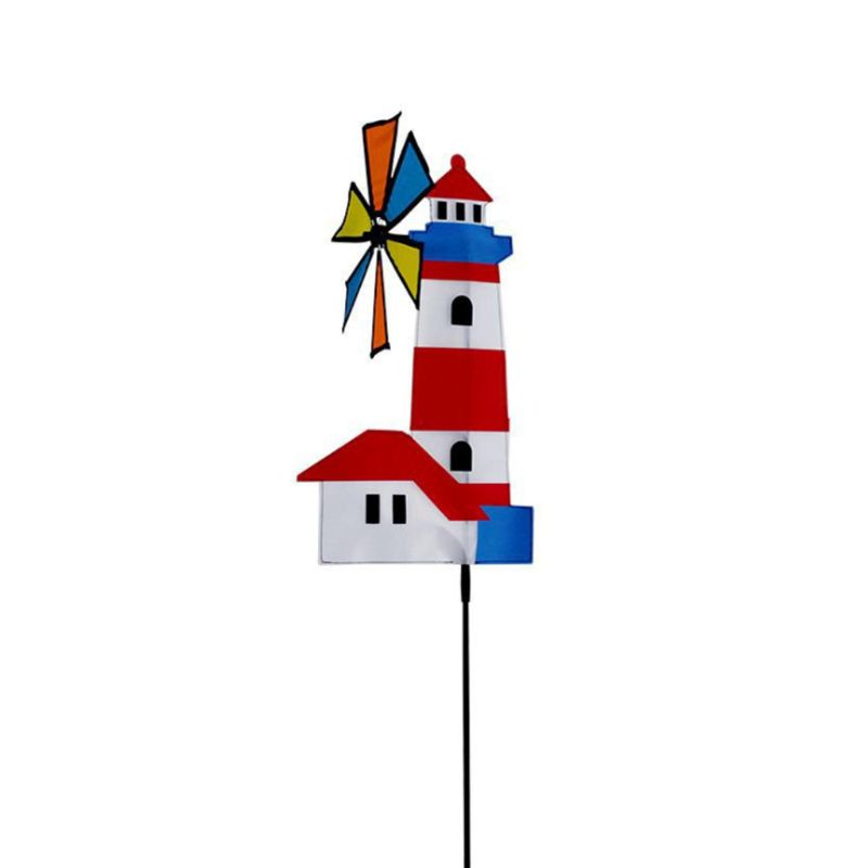 3D House Windmill Wind Spinner Whirligig Pinwheel Yard Garden Decor Outdoor Classical Kids Toys Y4UD