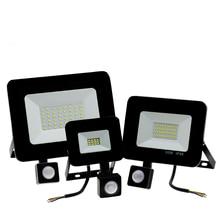 Настенный светильник для сада, светодиодный прожектор, наружный проектор, пейзаж, PIR датчик движения, светильник AC220 10 Вт 20 Вт 30 Вт 50 Вт 100 Вт 150 Вт 200 Вт
