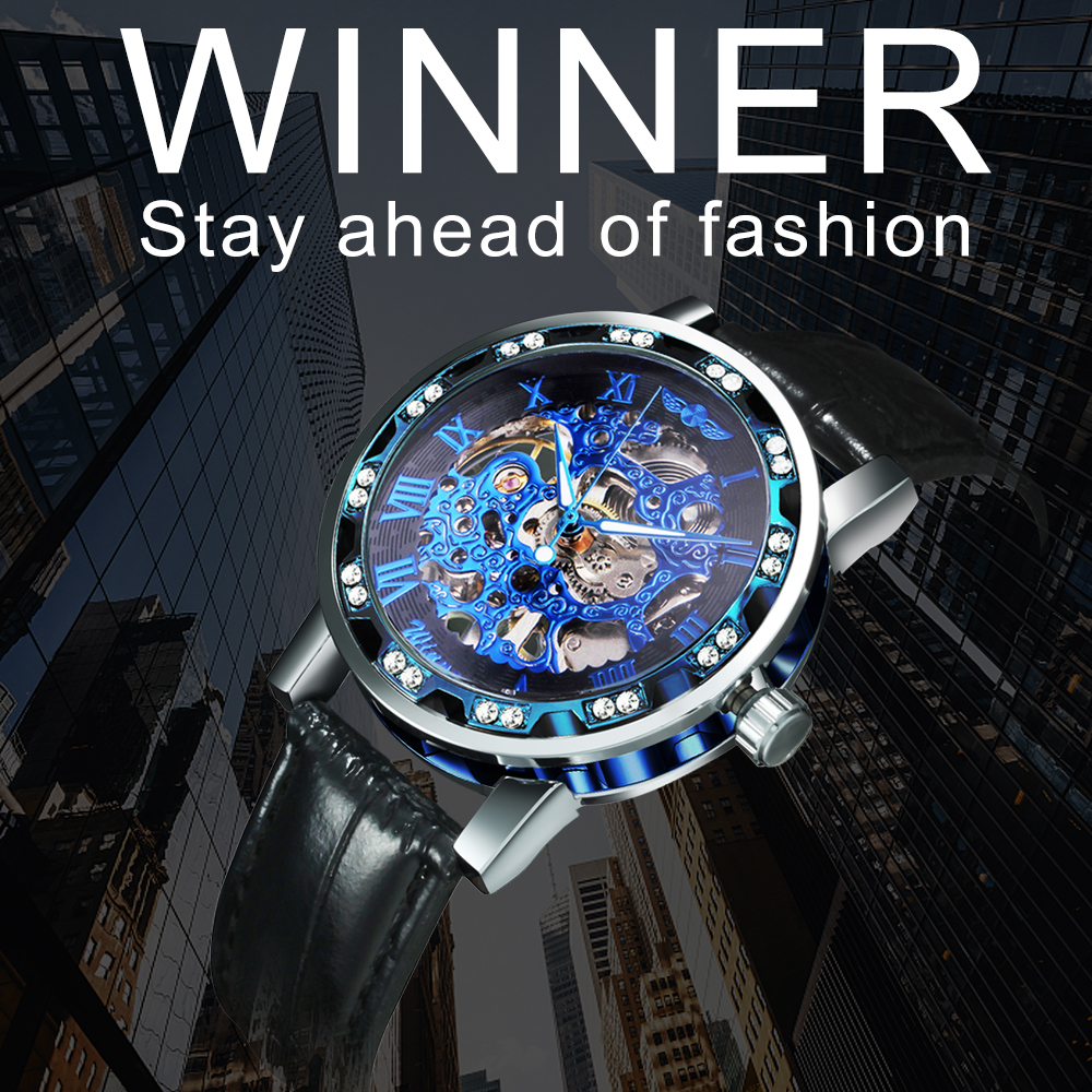 H4446f10e08a14ebd9db35a4b407521a9f WINNER Fashion Business Mechanical Mens Watches Top Brand Luxury Skeleton Dial Crystal Iced Out Wristwatch Hot Sale Clock 2019