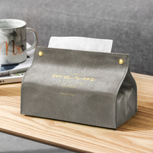 High Quality Retro PU Leather Tissue Box Foldable Napkin Case Home Kitchen Paper Holder Storage Box Car Tissue Storage Boxes biety am 13 multifunctional alligator pu leather car sunvisor sunshade tissue box case cd holder
