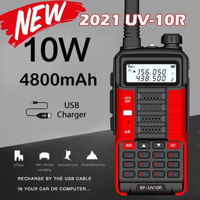 2021 New BaoFeng UV-10R Two Way Radio Walkie Talkie Ham CB Radio Transceiver 30km Long Range Portable Radio For Hunt Forest City