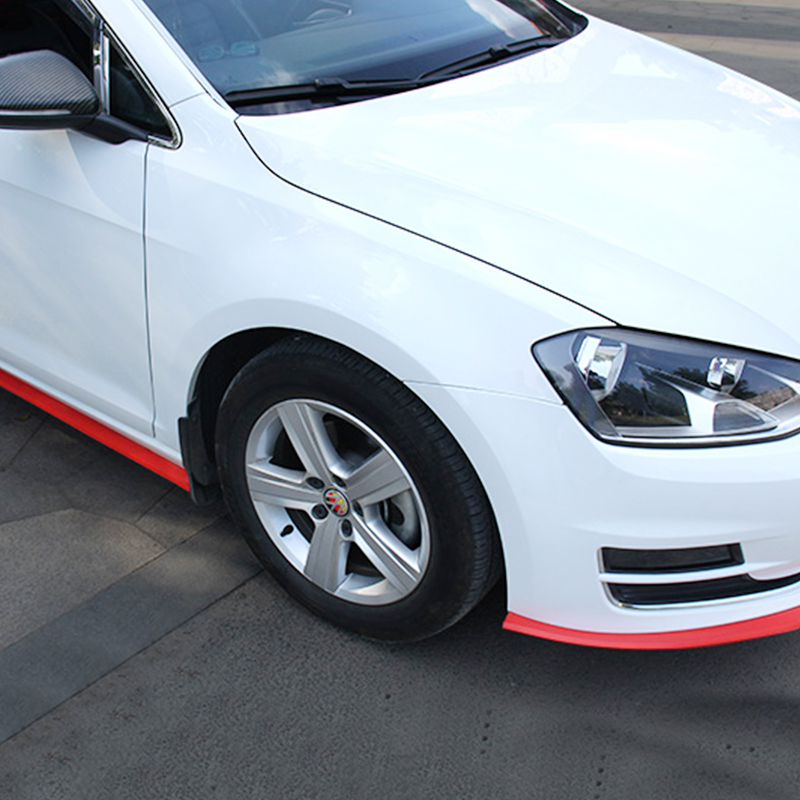 Image 3 - 2.5m Auto Lip Bumper Striscia Protezioni Splitter Kit corpo  vettura Spoiler Imbottiture e Paraurti Paraurti Auto Porta In Fibra di  Carbonio di Gomma Lip 65 millimetri larghezza della Striscia-in  Modanature auto da Automobili e motocicli su