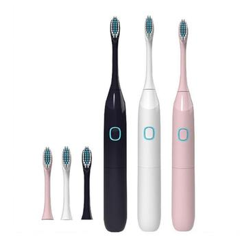 цена на Adult Children Travel Sonic Electric Toothbrush with 2 Replacement Brush Head Battery Powered Electric Toothbrush Oral Care