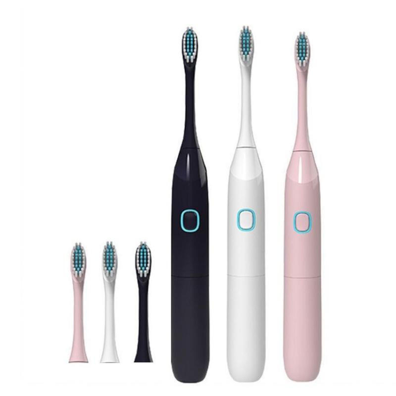 Adult Children Travel Sonic Electric Toothbrush with 2 Replacement Brush Head Battery Powered Electric Toothbrush Oral Care image