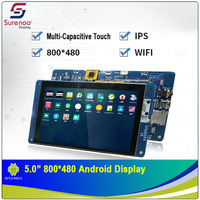 5.0 800X480 Android Industrial Grade WIFI IPS TFT LCD Module Display Screen with w/ Multi Capacitive Touch Panel