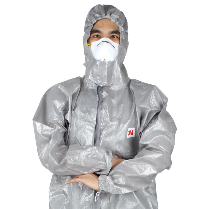 3M4570 Protection Suit Anti-Dust Harmful Particulate Matter Anti-static Microbial Chemicals Spray Chemical Protective Clothing