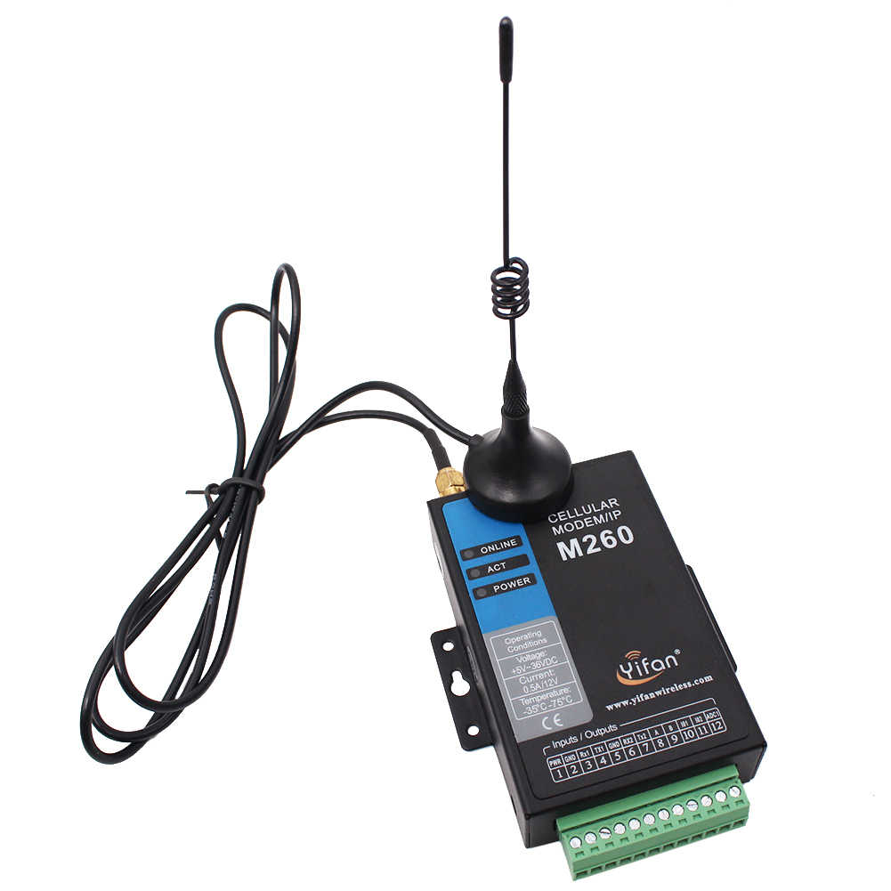 M260-H TCP/IP Modbus RTU RS232 RS485 промышленный 3g модем для ПЛК AMR SCADA