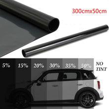 300x50cm matiz da janela do carro filme matiz rolo de vidro da janela de casa automóvel verão solar uv protetor adesivo anti-explosão janela folhas