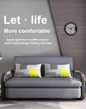 Bit Cube Gray Folding Bed Sofa 1