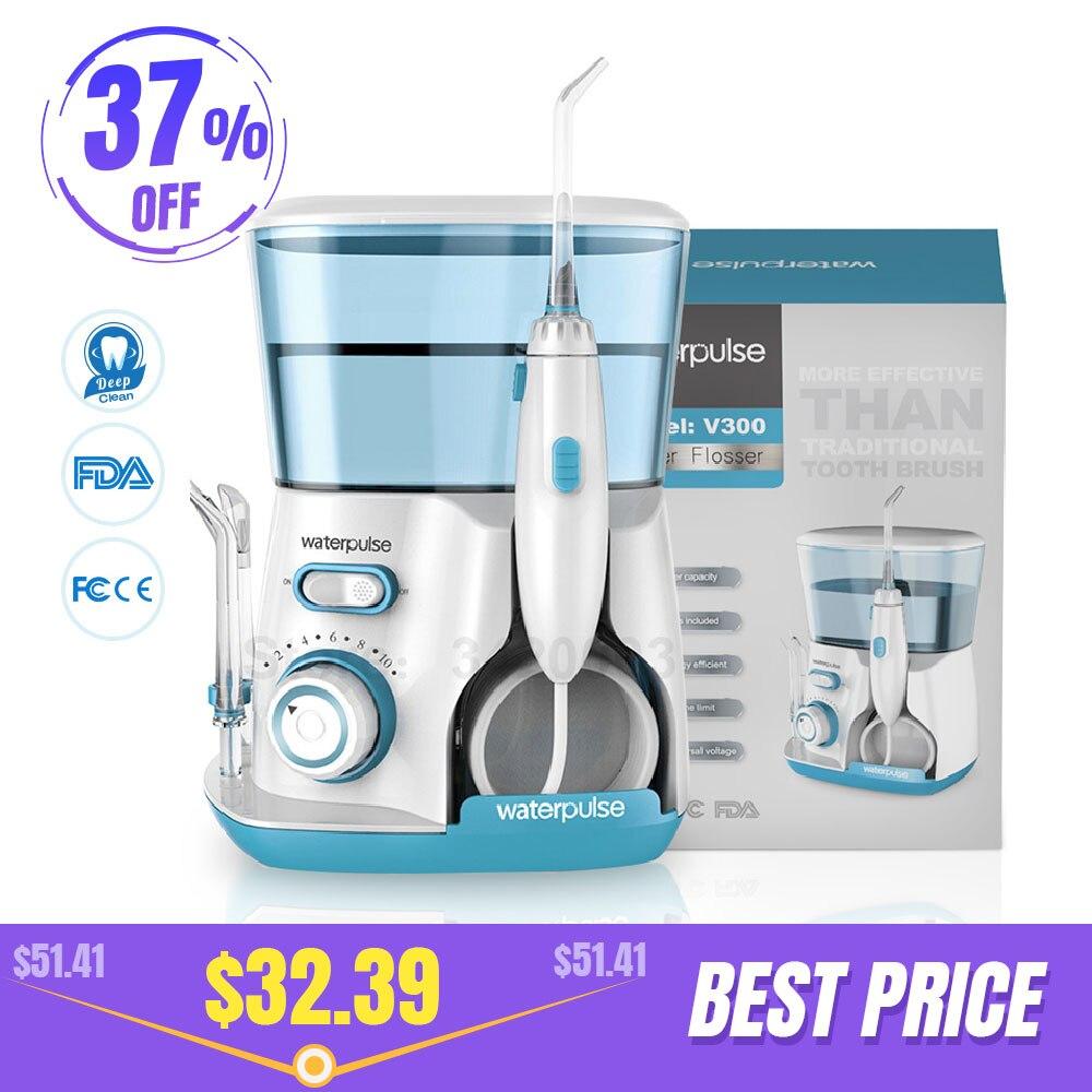 Waterpulse V300G Munddusche 5 stücke Tipps Dental Wasser Flosser Wasser Floss 800ml Mundhygiene Dental Flosser Wasser Zahnseide v300