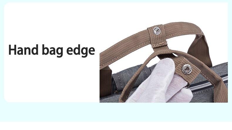 Купить с кэшбэком Disney Diaper Backpack Baby Bags for Mom Fashion Mummy Maternity Diaper Organizer Mickey Minnie Stroller Wet Bag for Cart Pram