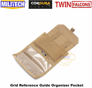 Image 2 - MILITECH TWINFALCONS TW 500D Delustered Cordura Molle 그리드 레퍼런스 가이드 주최자 포켓 좌표지도 Combat Admin Pouch